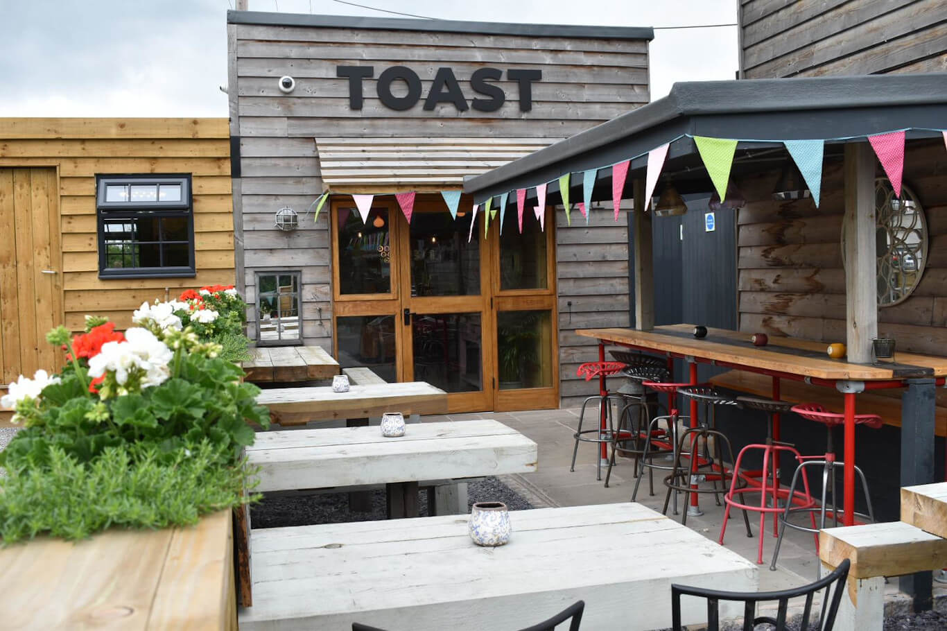TOAST outdoor seating area